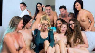 Grup pornoda tükeniyorlar